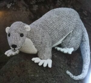 """DK Knitting Pattern For Weasel Animal Toy 14"""" In Length"""