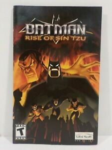 Batman: Rise of Sin Tzu PlayStation 2 PS2 ***Manual Only ***