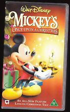 DISNEY - MICKEY'S ONCE UPON A CHRISTMAS - FEATURE - VHS PAL (UK) VIDEO