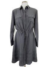 New Banana Republic Heritage Womens 100% Silk Dress Military Style Size Small