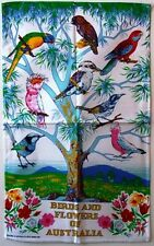 Tea Towel - Birds and Flowers of Australia - 100% Cotton