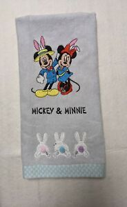 Disney Mickey & Minnie Mouse Easter Bunny Hand Towel - embroidered