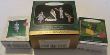 Hallmark ornament Miniature Wizard of Oz lot of 3 boxes 1997 King Forest toto +