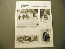 1970 Vintage Poloron Snowmobile News Brochure