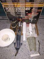 PRESTO FOOD STRAINER & SAUCE MAKER ---------- canning freezing fruit TOMATO