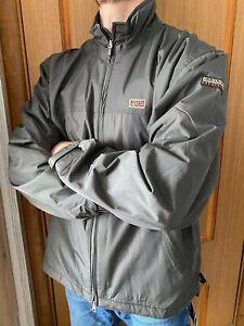 Napapijri Expedition Bomber Harrington Grey Jacket Size- XL