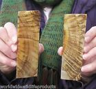 2 piece lot of 5 inch Ram/Sheep horn knife scales/slabs 1/4 inch thick (S)
