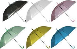 Regenschirm Schirm Stockschirm Transparent Fashion Line durchsichtig Ø ca. 88cm
