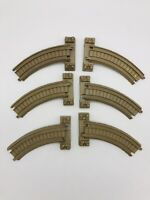 Lot of 6 Pieces Thomas Train Plastic Tracks Trackmaster Tan Riser Brown