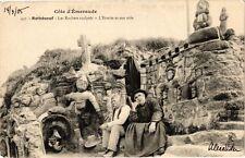 CPA  Coté d'Émeraude -Rothéneuf -Les Roches sculpté-L'Ermite et son aide(226893)