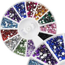 NUOVO HOT Nail Art Strass Glitters Acrilico Consigli Decorazione Manicure Ruota #8