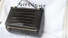 New GIVENCHY GIV 603 Croc Embossed Black Leather Med Pandora Box Bag rrp £1745-