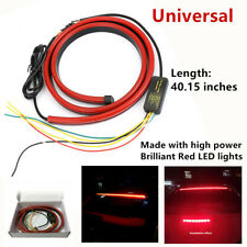 1*Red LED Emitters Rear Windshield High Mount Brake Tail Sequential Strip Lights