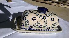 Ceramika hand made butter dish from Poland