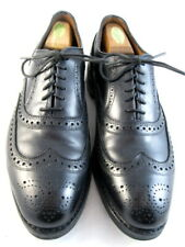 "Allen Edmonds  ""MCALLISTER"" Wingtip Oxfords 10.5 D  Black   (326)"