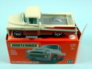 MATCHBOX / 1957 Dodge Sweptside Pickup / HERITAGE BOX.