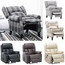 PU Leather/Fabric Recliner Armchair Reclining Chair Heated Padded Massage Sofa