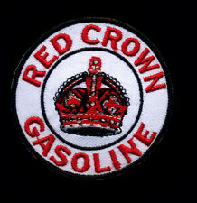 Red Crown Gasoline Patch Hot Rod Mechanic Gas Station