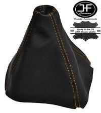Jaune stitch fits HONDA PRELUDE 1992-1996 gear gaiter cuir véritable fabriqué sur mesure