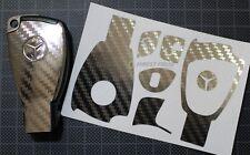 CARBON Chrom Folie Dekor Schlüssel Mercedes A W168 W202 W203 W208 W209 W210 W211