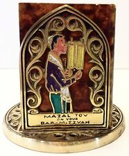 Abada Israel Brass Book Stand with Five Small Torah Books of Moses Hebrew