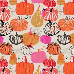 Fat Quarter Dashwood  Studios Full Moon Halloween Pumpkin 100% Cotton Fabric