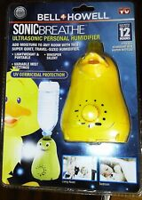 BELL & HOWELL SONIC BREATHE PERSONAL HUMIDIFIER DUCK - LASTS UP TO 12 HOURS!