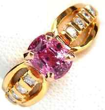 GIA Certified 2.27ct Natural No Heat Pink Sapphire Diamond Ring Unheated+