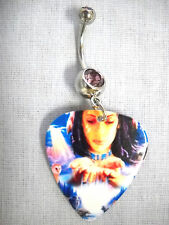 Pick Lilac Purple Cz Belly Ring Running Waters Native Princess Printed Guitar