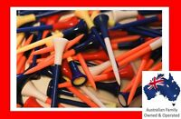 100 x EXTRA LONG 85mm PLASTIC + RUBBER CUSHION GOLF TEES - OVER 5000 FEEDBACK -