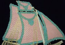 Forget-Me-Not Sail Boat with Scrap Boy Sailing out to Sea with Valentine Letter