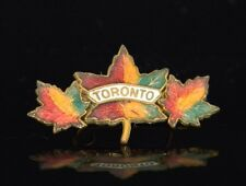 Beautiful Vintage Toronto Maple Leaf Brooch / Pin Collectible