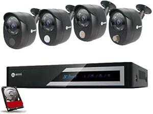 Anni CCTV Camera System 8CH 1080N DVR Surveillance Kit HD Outdoor Day Vision