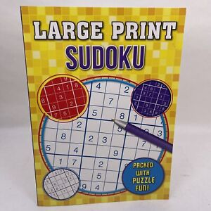 A4 Large Pring Sudoku Book Puzzles Brain Training Quality 80 Pages Paperback New