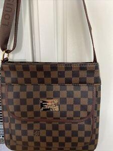 Brown Checkered Louis Vuitton Over the shoulder Bag