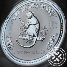 2004 Australia Lunar Year of the Monkey 1 oz. Silver Coin Series I w/capsule