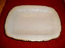 Lenox Nassau server candy dish Gold trim