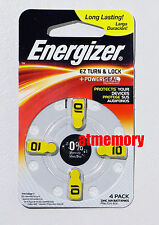 Energizer 10 A10 AZ10 Zinc Air Hearing Aid Batteries 1.4V PR70 4pcs/pk AZ10DPA-4