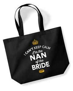 Nan Of The Bride Idea Wedding Hen Party Bridal Bag Handbag Present Keepsake