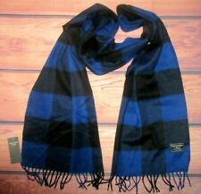 MENS ABERCROMBIE & FITCH PLAID CHECKED ROYAL BLUE SCARF