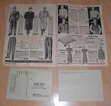 dachbodenfund mode / stoffe original katalog alt witt weiden 1938 preisliste rar