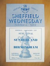 1956 FA Cup Semi-Final BIRMINGHAM CITY v SUNDERLAND *VG Cond Football Programme*