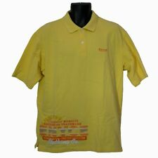 Enyce Mens Polo Shirt Yellow Size L Large Embroidered Short Sleeve