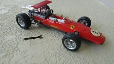 1970 's Ferrari Formula race car Schuco wind up 1:16 Tin Toy Car made Germany
