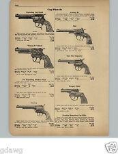 1951 PAPER AD Toy Cap Guns Pistols Hubley Texan Star Trooper Cowboy