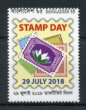 Bangladesh 2018 MNH Stamp Day 1v Set Philately Stamps-on-Stamps Stamps