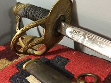 Antique M1872 Springfield Armory Cavalry Officers Saber Sword with Scabbard Rare