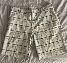 Nike Golf Tour Performance Mens Golf Shorts  Blue/Gray Plaid Dri-Fit Sz (38)