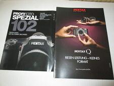 2 x Prospekt - Pentax Q + Profifoto Spezial 102 - Pentax 645D....