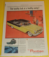 1955 Pontiac 2 Door Hardtop Color Car Ad Great Picture! Nice SEE!